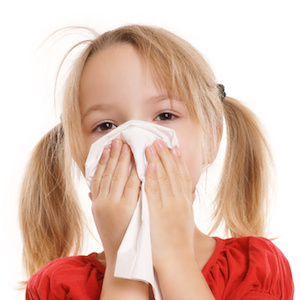 Pige med foedevareallergisk reaktion